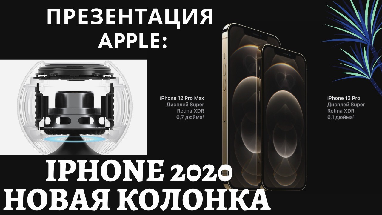 Презентация Apple 2020: новая колонка HomePod mini и iPhone 12 Pro Max